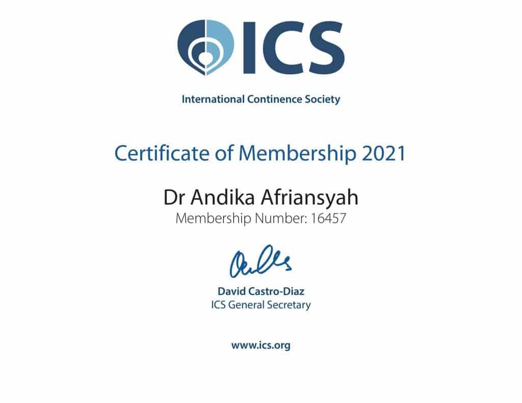 Sertifikat ICS Andika Afriansyah